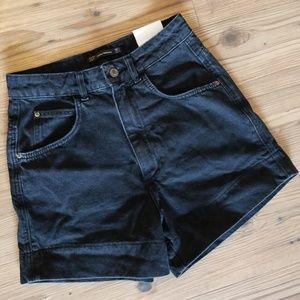 NWT {Zara} Black Trafaluc Denimwear Jean Shorts